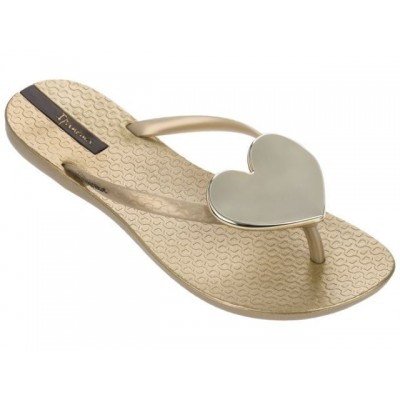 Ipanema Maxi Heart Sandal - Gold
