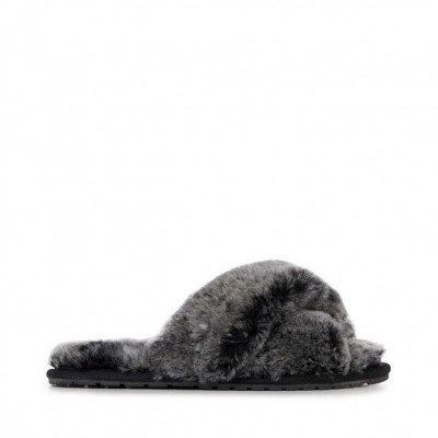 Emu Mayberry Sheepskin Slippers-Black Frost