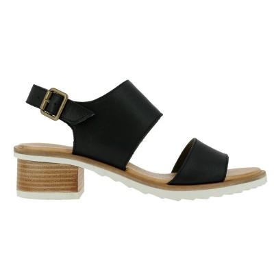 El Naturalista Women's N5010 Heel Sandals in Black
