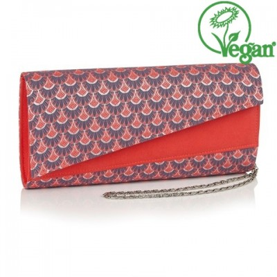 Ruby Shoo Oxford Bag - Coral - Vegan
