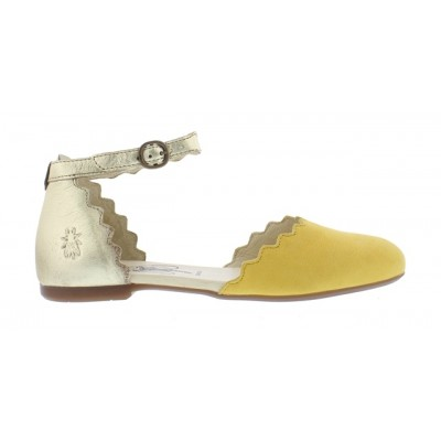 Fly London Megs Cut Out shoe-yellow/gold
