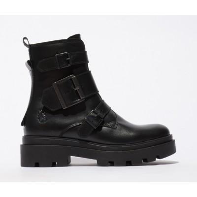 Fly London Jeda Buckle boot - Black