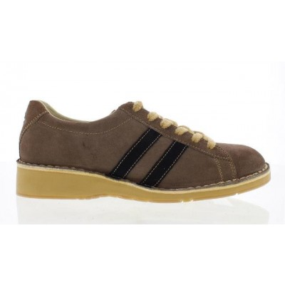 Fly London Cam Men's Lace Up Shoe in Taupe/Navy