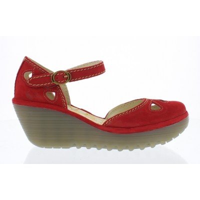 Fly london Yuna cutout wedge- Red