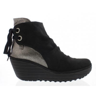 Fly London Yama Black/Silver Boot