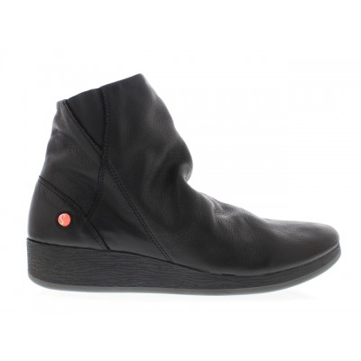 Softinos Ayo Black Wedge Boot