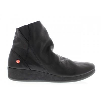 Softinos Ayo Black Wedge Boot
