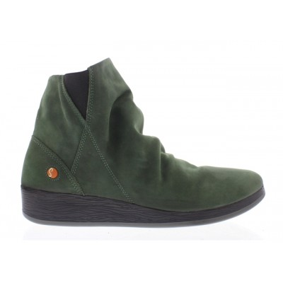 Softinos Ayo Dark Green Wedge Boot