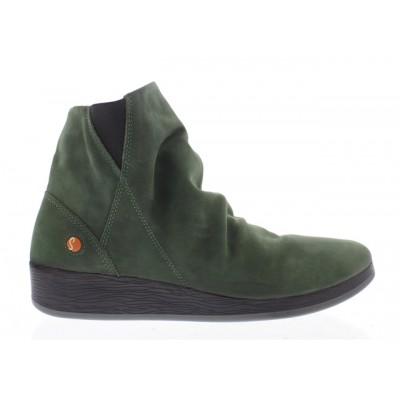Softinos Ayo Dark Green Wedge Boot