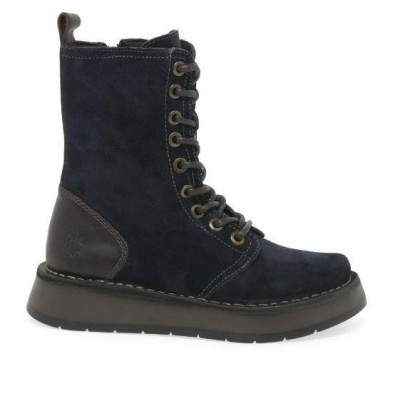 Fly London Rami Boot - Navy Suede