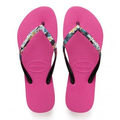 Havaianas Slim Strapped Floral Pink/Multi