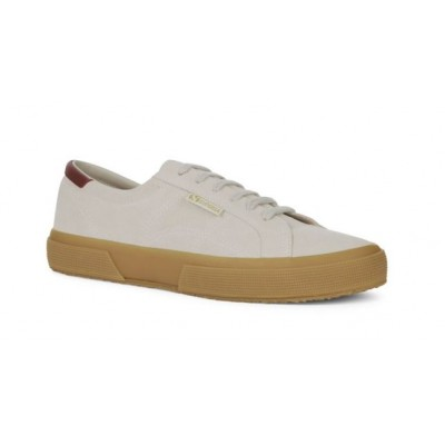 Superga 2386 Suede Trainer - White Cream/Gum
