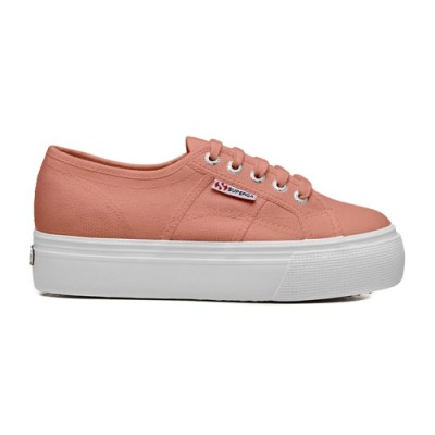 Superga 2790 Platform Trainer - Peach Coral