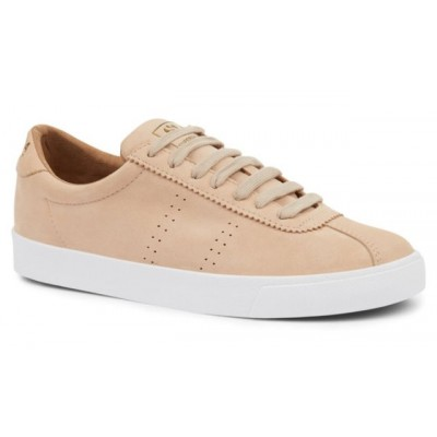 Superga Women's 2843 Sport Trainer in Light Tan Nubuck