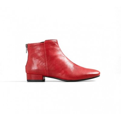 Vagabond Suzan Back zip ankle boot-Red