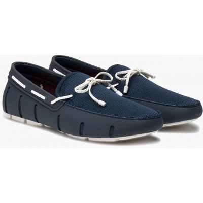 Swims Braided Lace Loafer Navy