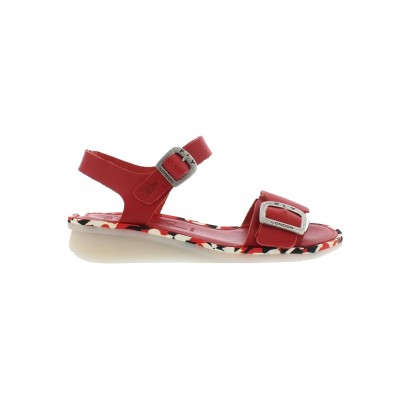 Fly London Comb Red leather sandal