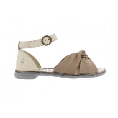 Fly London Cofa Sandal-Concrete/Bronze