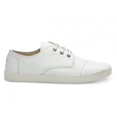 Toms Men's Paseo White Leather