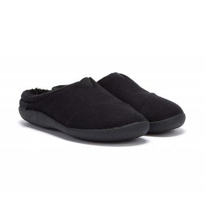 Toms Berkeley Mens fleece slippers-Black