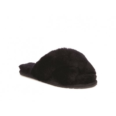 Emu Mayberry Sheepskin Slippers-Black