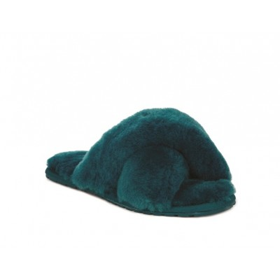 Emu Mayberry Sheepskin Slippers-Teal