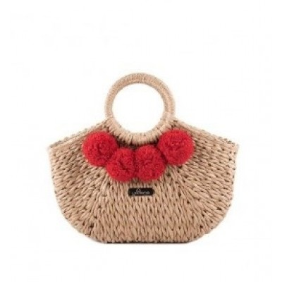 Yokono Palma Pom Pom Bag - Red