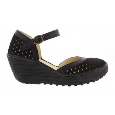 Fly London Yven perforated shoe-Black