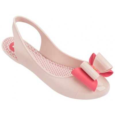 Zaxy women's Gift Bow slingback 81760 in nude/coral