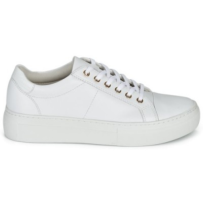 Vagabond Zoe Platform - White Leather (gold)