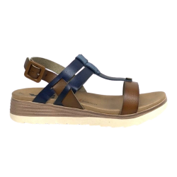 XTI Capricorn Sandals - Navy/Tan