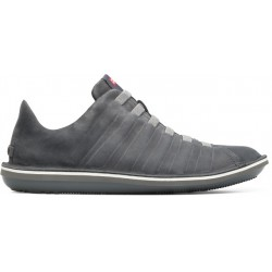 Camper Beetle Ribbed Shoe - Grey Suede
