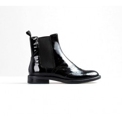 Vagabond Amina Patent Brogue Chelsea boot