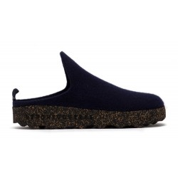 Asportuguesas Come wool slipper- Navy
