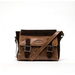 Fly London Dali Leather messenger bag-Camel