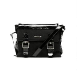 Fly London Dali Leather messenger bag-Black