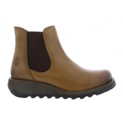 Fly London Salv Camel Leather Chelsea Boot