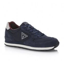 Guess Charlie Suede Trainer - Navy