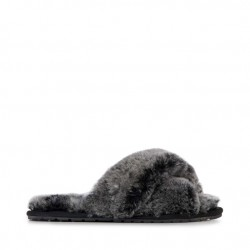 Emu Mayberry Sheepskin Slippers-Black Frost