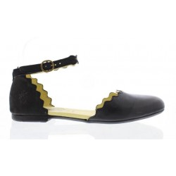 Fly Megs Cut Out Shoe-Black