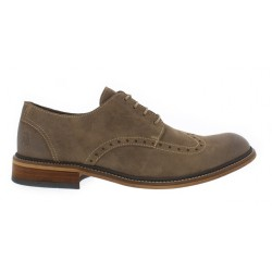 Fly London HUGH Taupe Suede Brogue