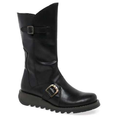 Fly London Women's Mes 2 Black Mid Calf Boot