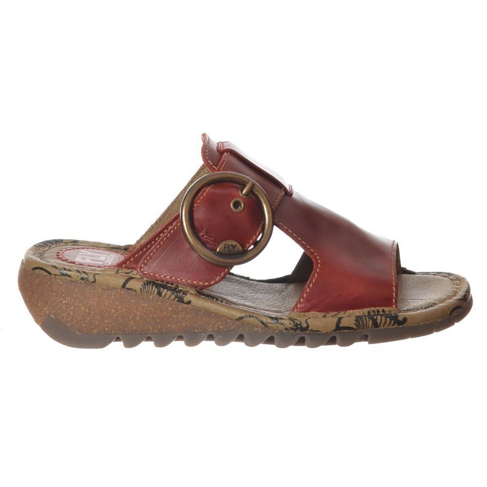 Fly London Tute sandal-red