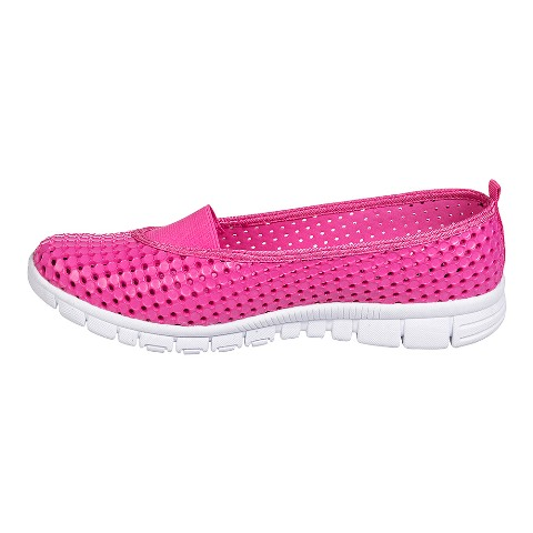 Holees Ladies Ballerina Shoe- Pink/white