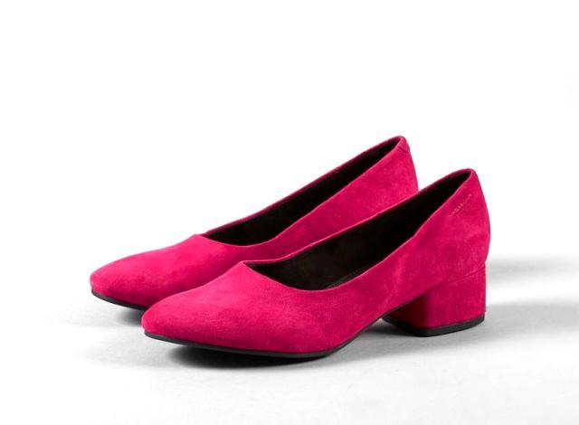 Vagabond Jamilla Pump Cerise Pink suede