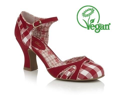 Ruby Shoo Jeraldine - Red -Vegan