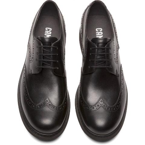 Camper Neuman Brogue Shoe - Black