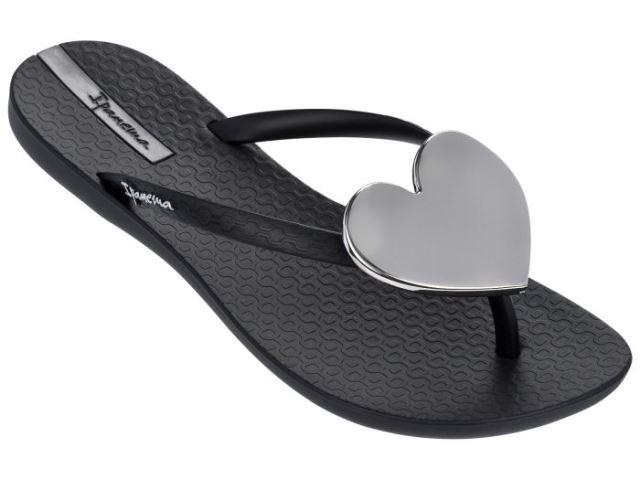 Ipanema Maxi Heart Sandal - Black