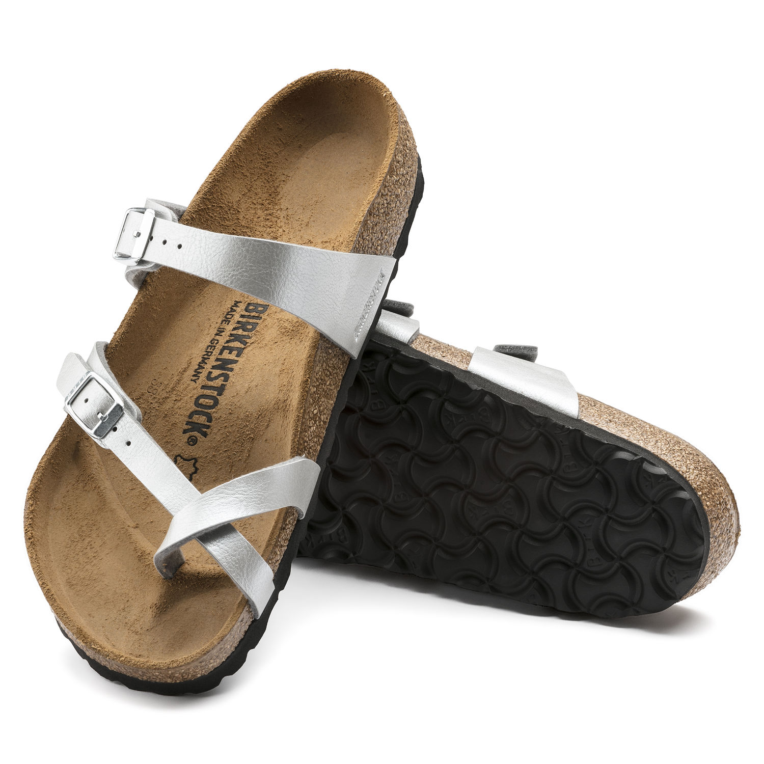 Birkenstock Mayari in Graceful Silver Birko Flor