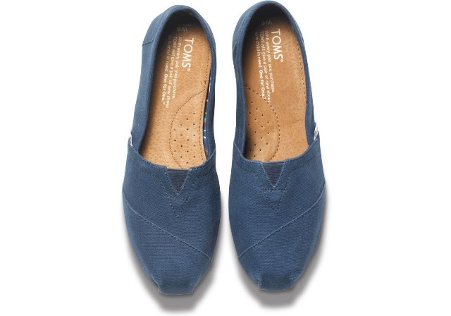 Toms Women's Classic Navy Canvas 10000873